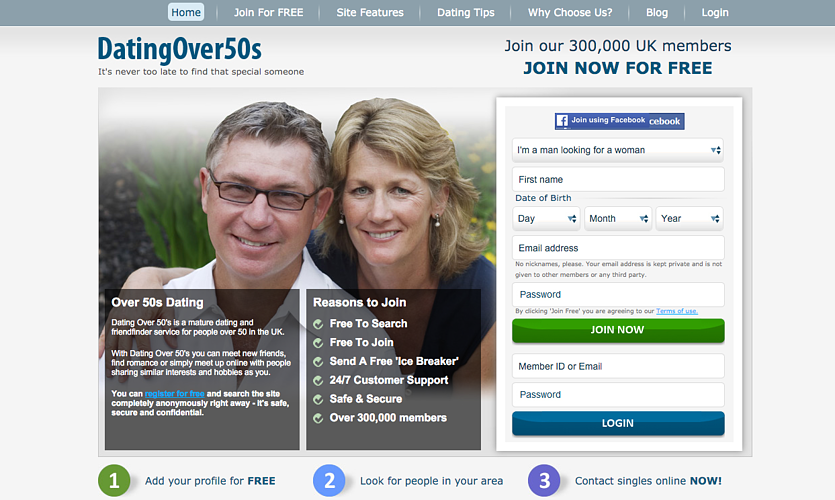 Dating Over 50's