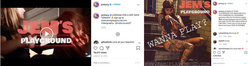 Jemma Lucy Instagram Promotion for Jems Playground