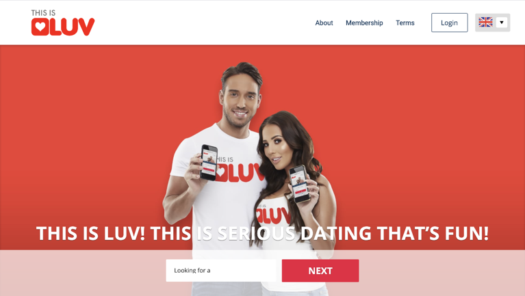 This is Luv, Dating Site by TOWIE Stars