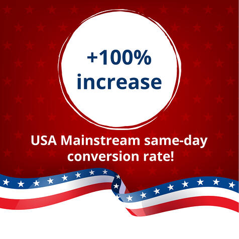 USA Mainstream increase